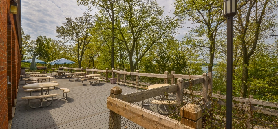 McCrary Dining Hall Deck Overlooking Gull Lake