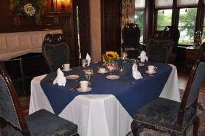 Dining room for dinner