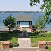 Pagoda garden on Gull Lake