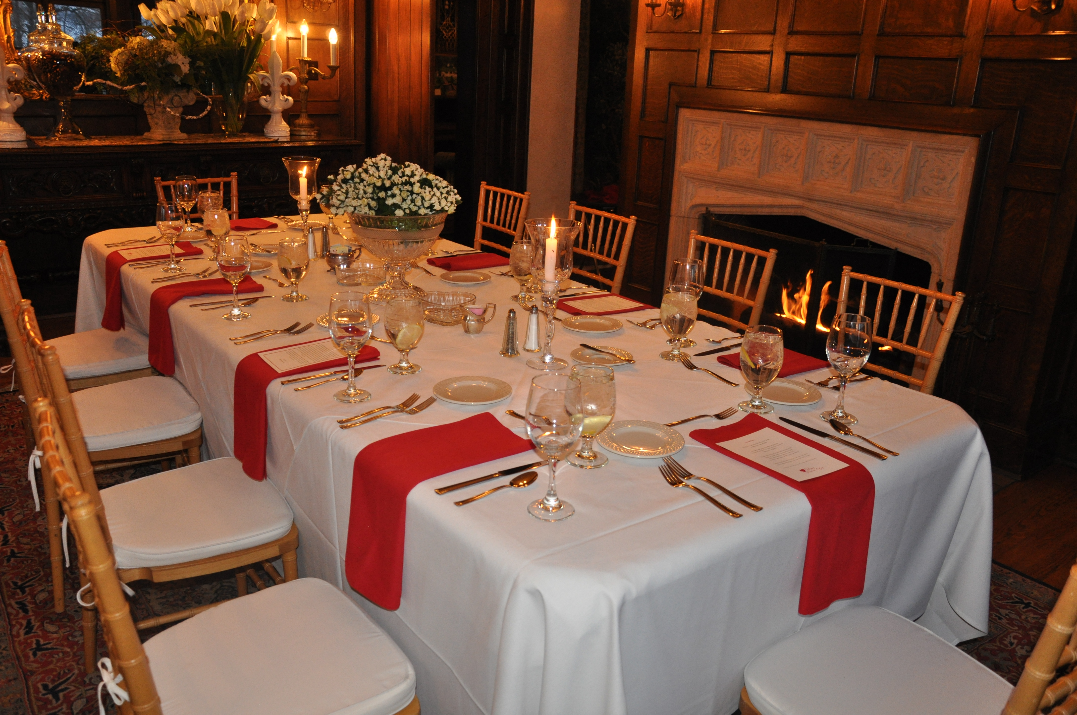 Valentineu0027s Dinner Table Setting Within The Manor House Dining Room