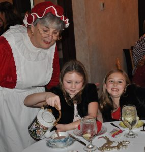 Mrs. Claus and her tea guests