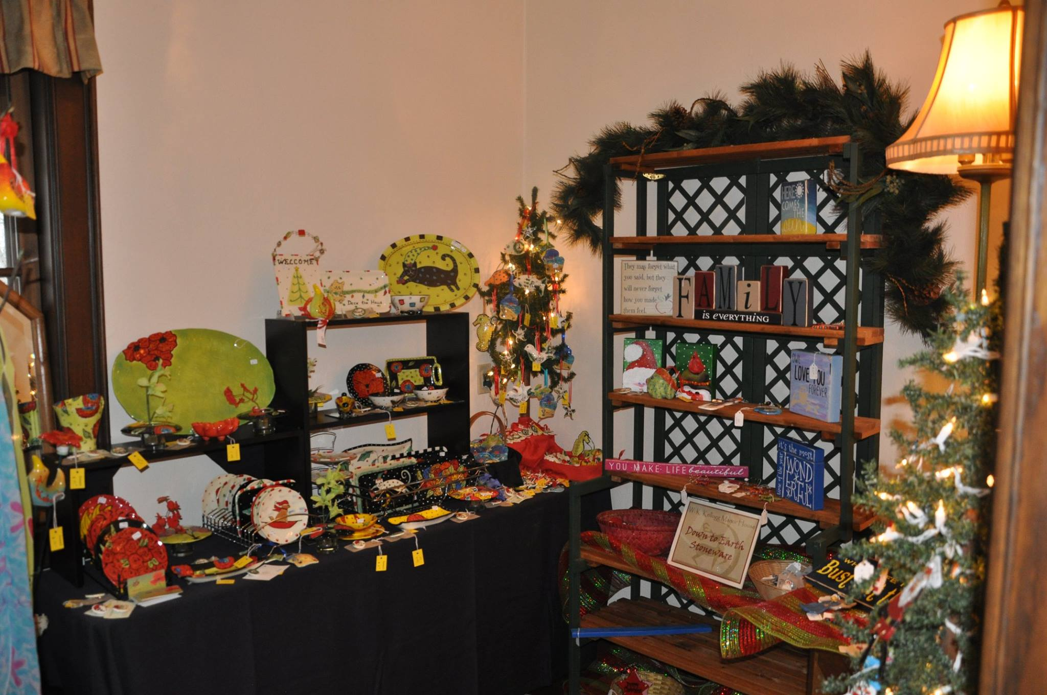 Holiday Vendor Items- wood signs and pottery