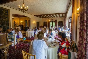 Guests dining in Manor house