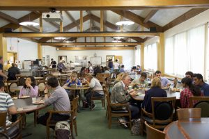 McCrary Dining Hall with guests eating