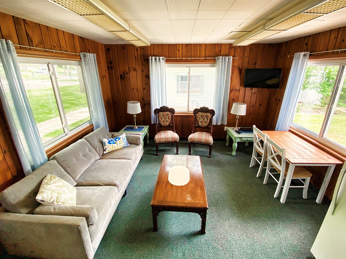 Living space of cabin B