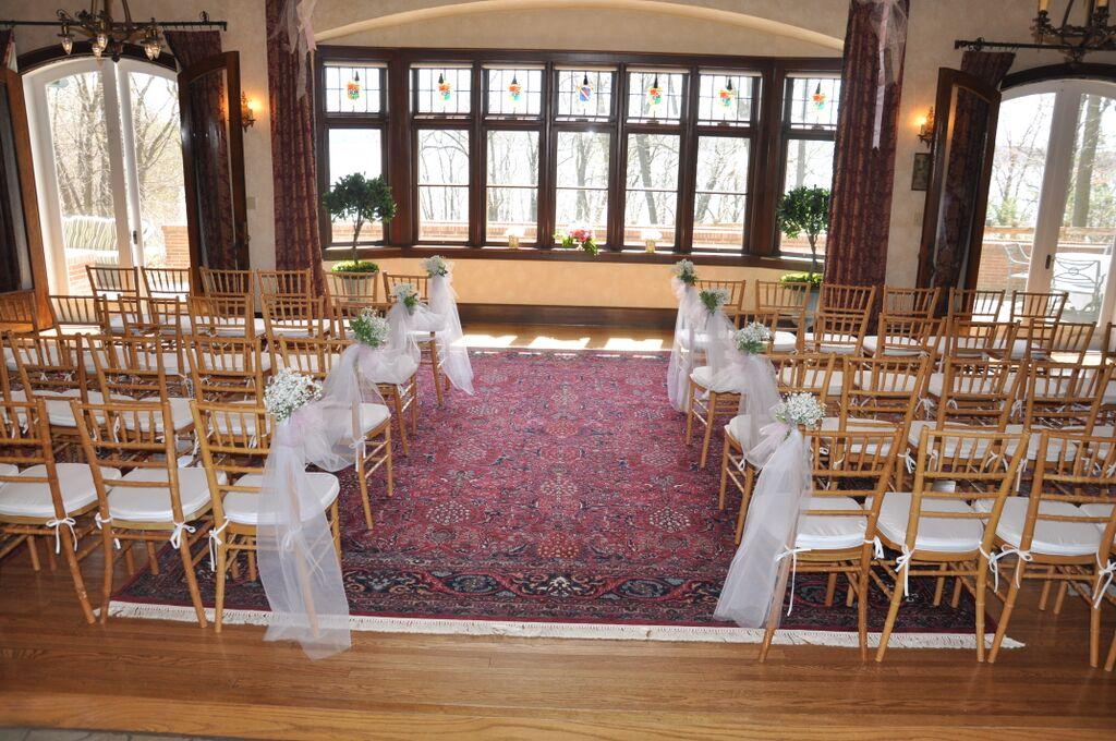 Ceremony inside living room